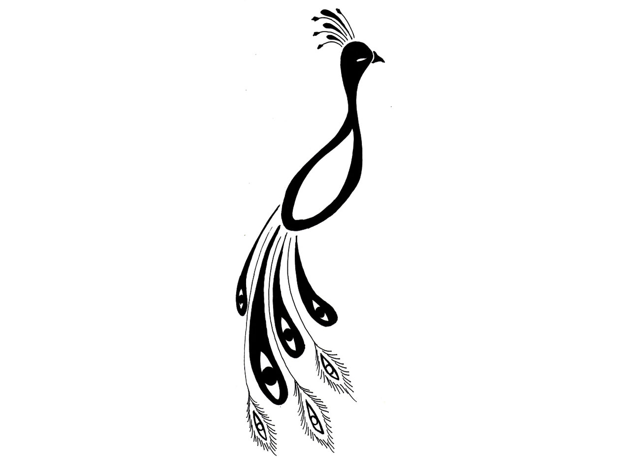 Free Black Peacock Cliparts Download Free Clip Art Free