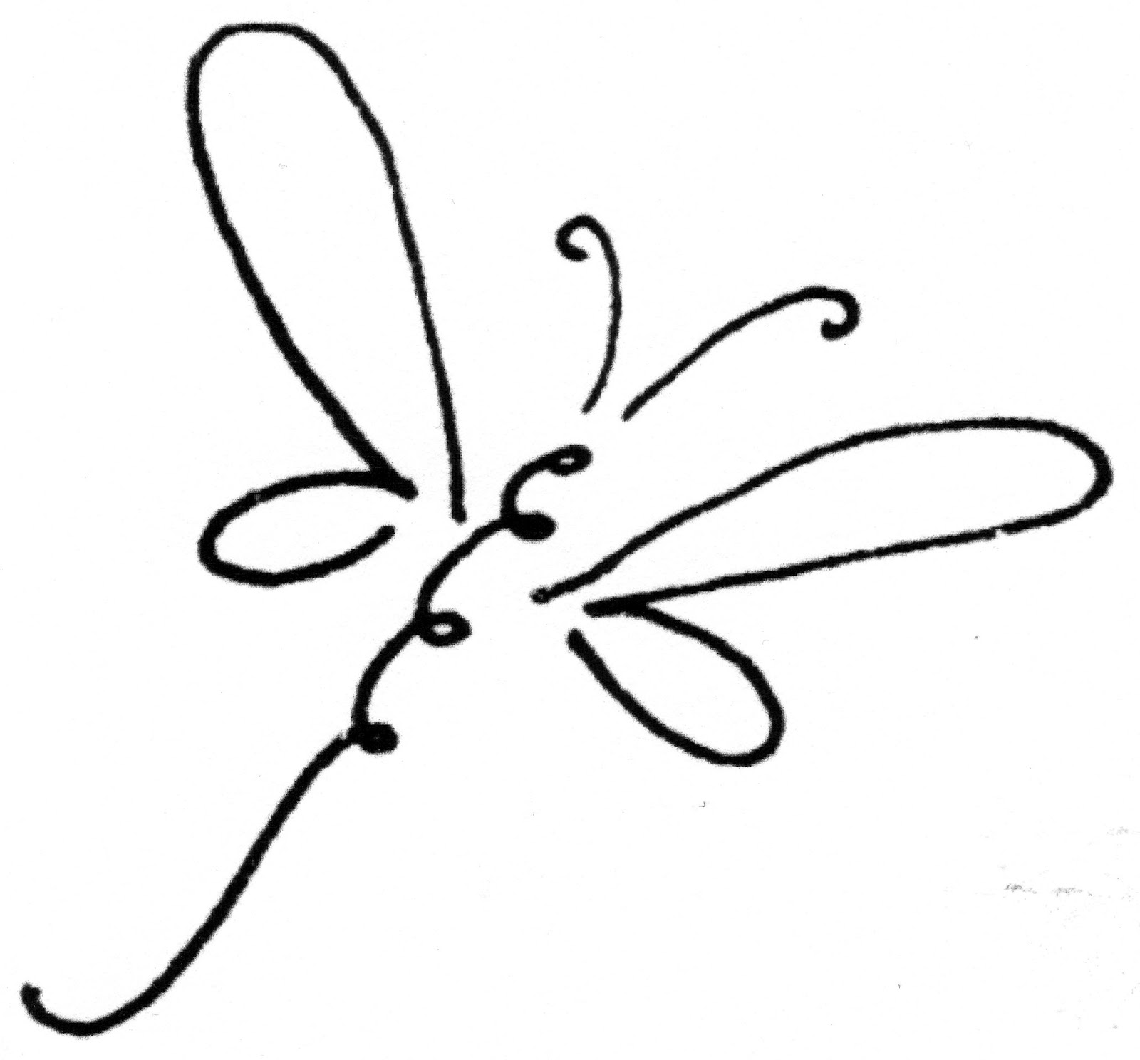 Free Simple Dragonfly Clipart Image