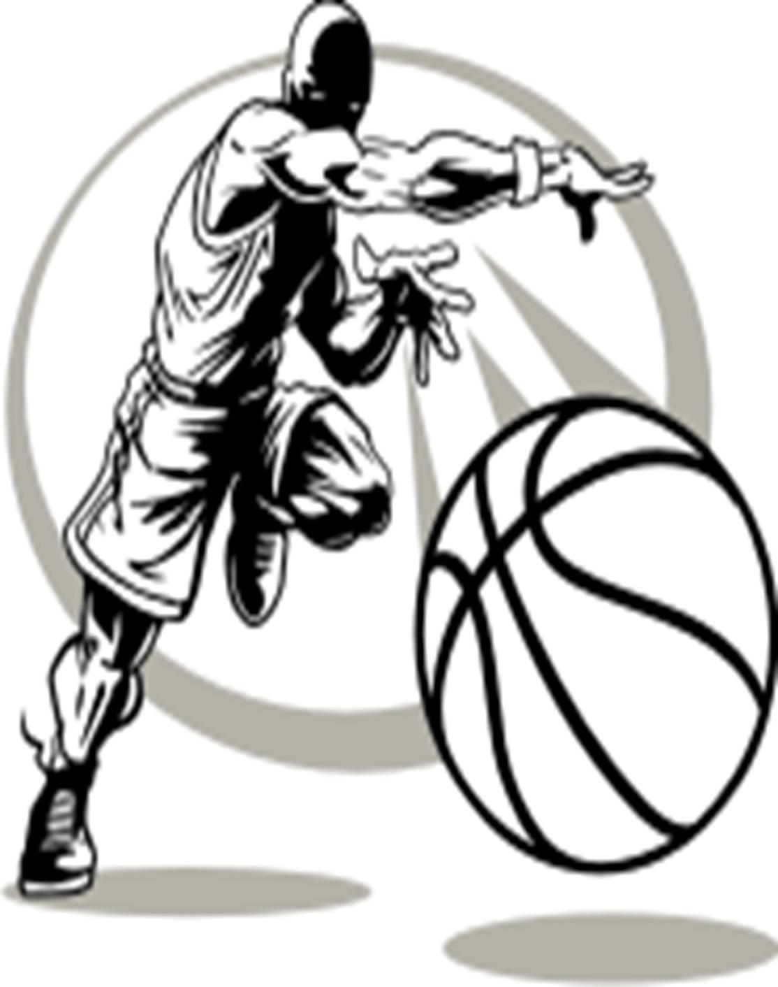 Basketball Team Clip Art Black And White