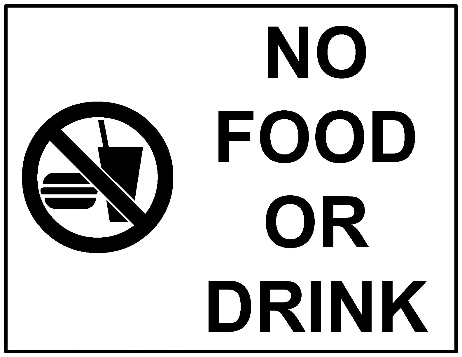 No Food Or Drink Sign Clipart