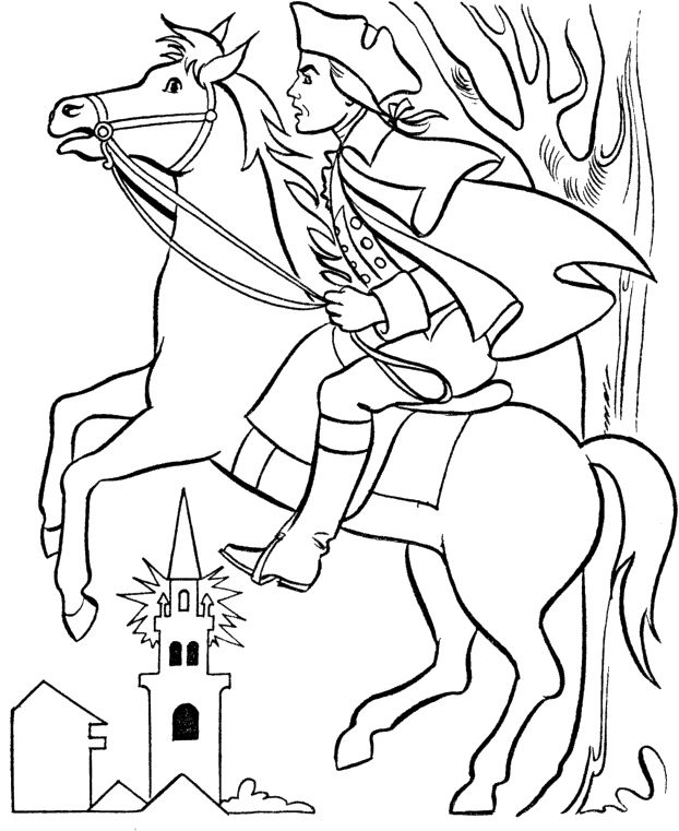 Paul Revere Midnight Ride Clipart
