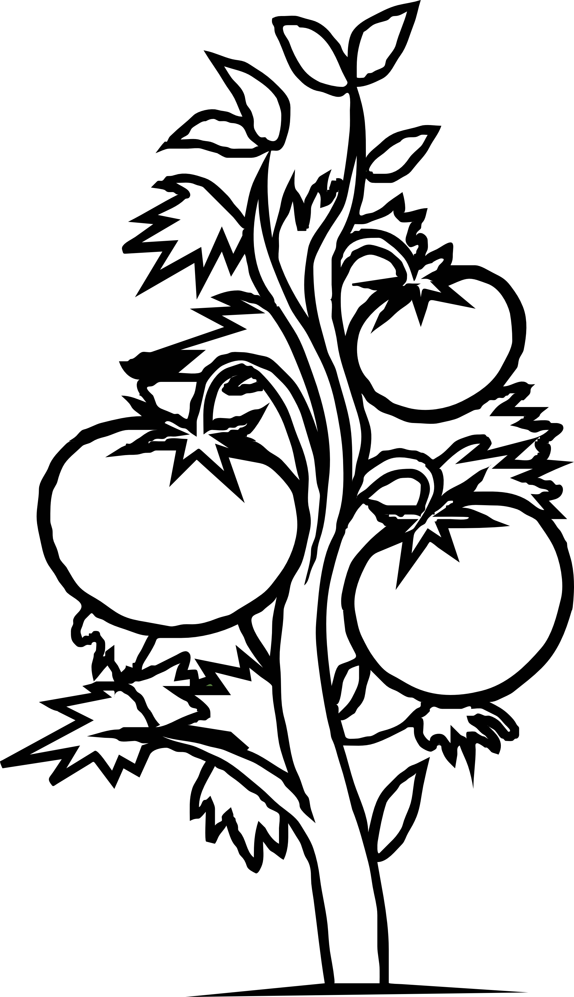 Clipart Plants Black And White