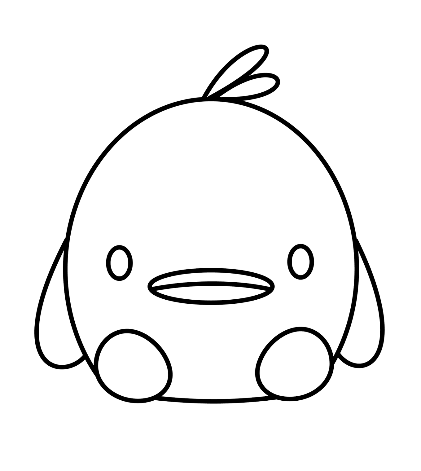Line Drawing Duck