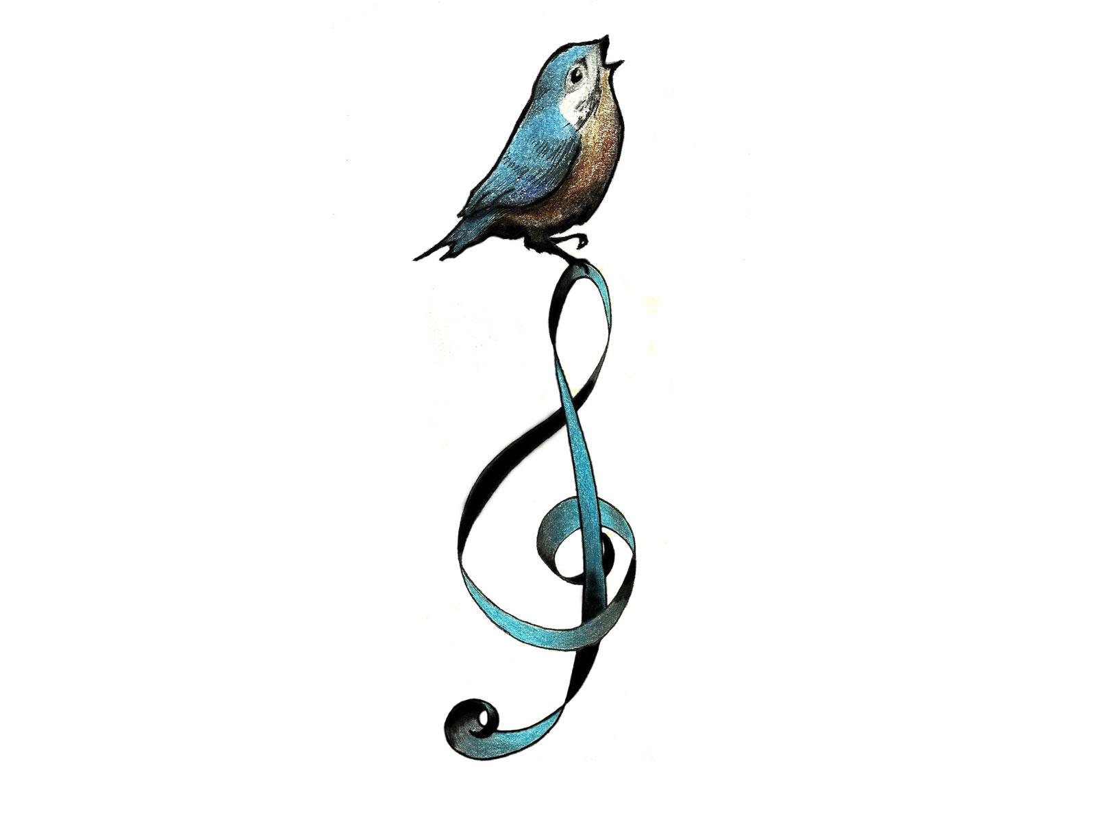 Music Bird Tattoos