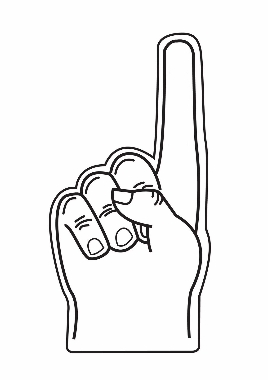 Free Number 1 Hand Cliparts Download Free Clip Art Free