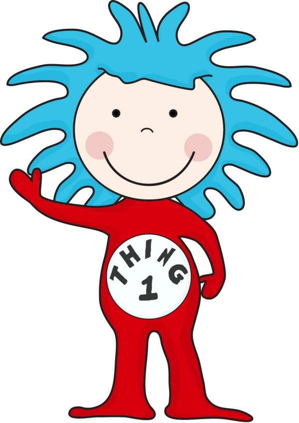 thing 1 and thing 2 coloring pages # 83
