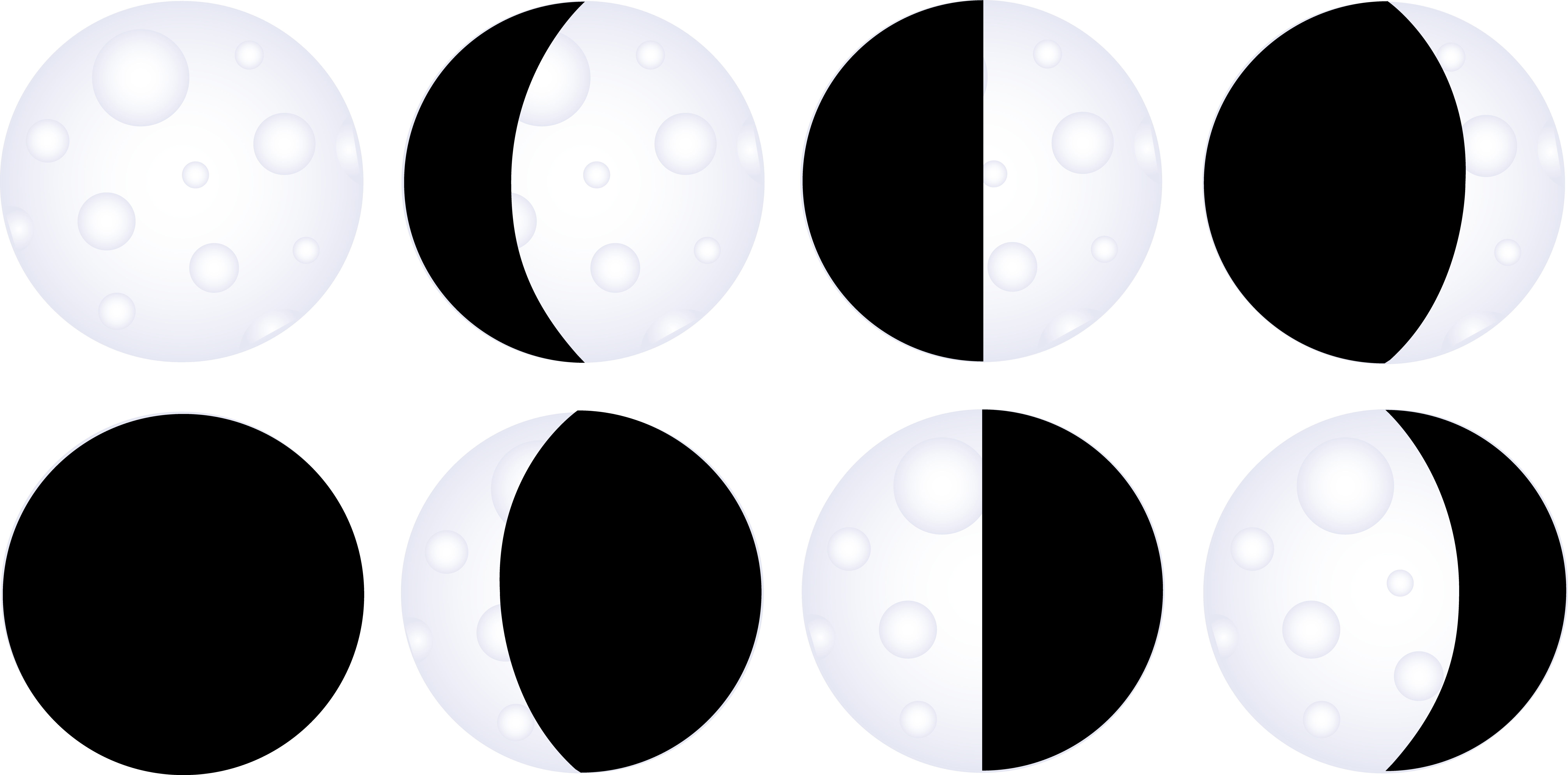 Moon Phases Cliparts