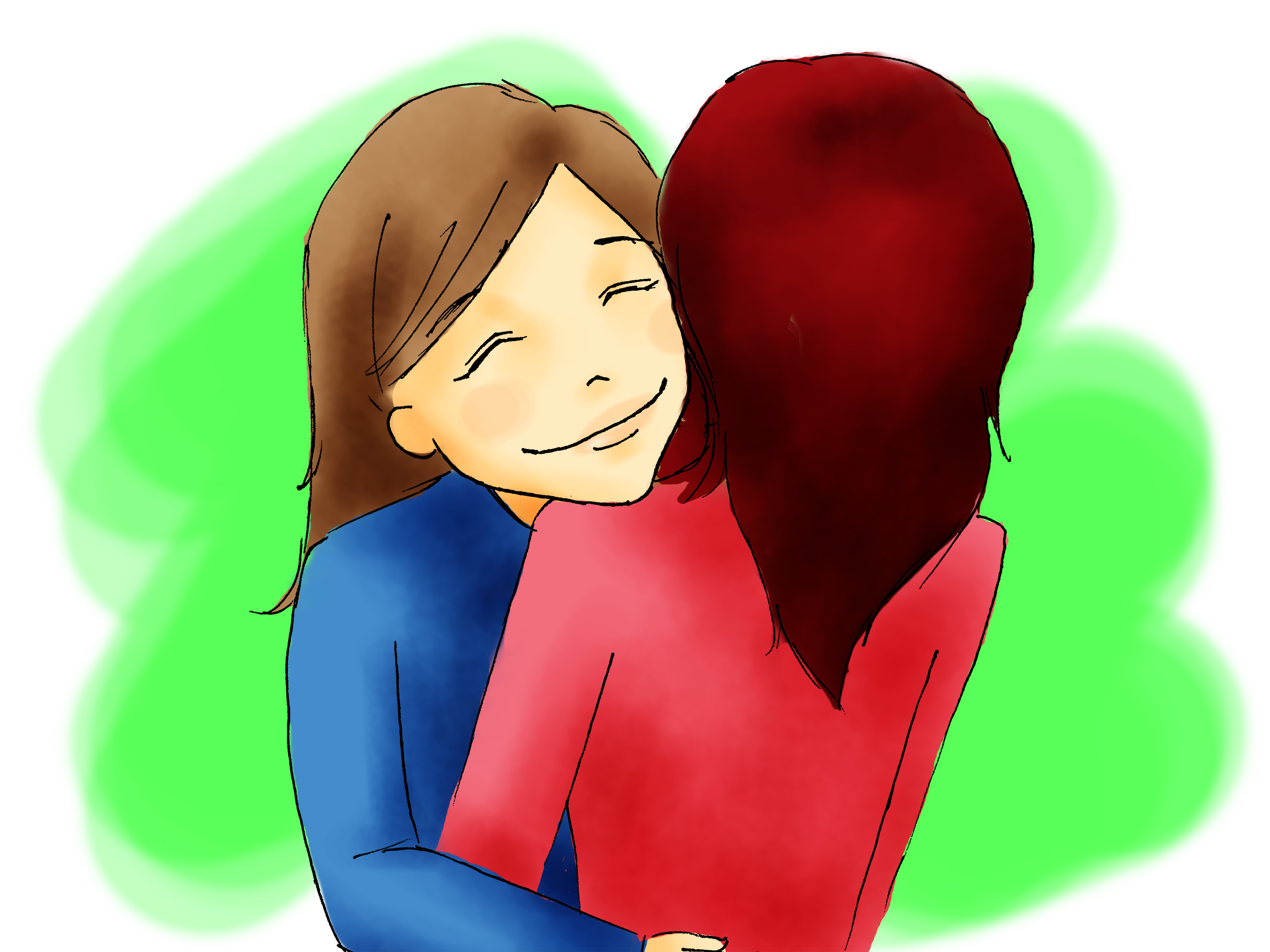 Comforting A Friend Clipart