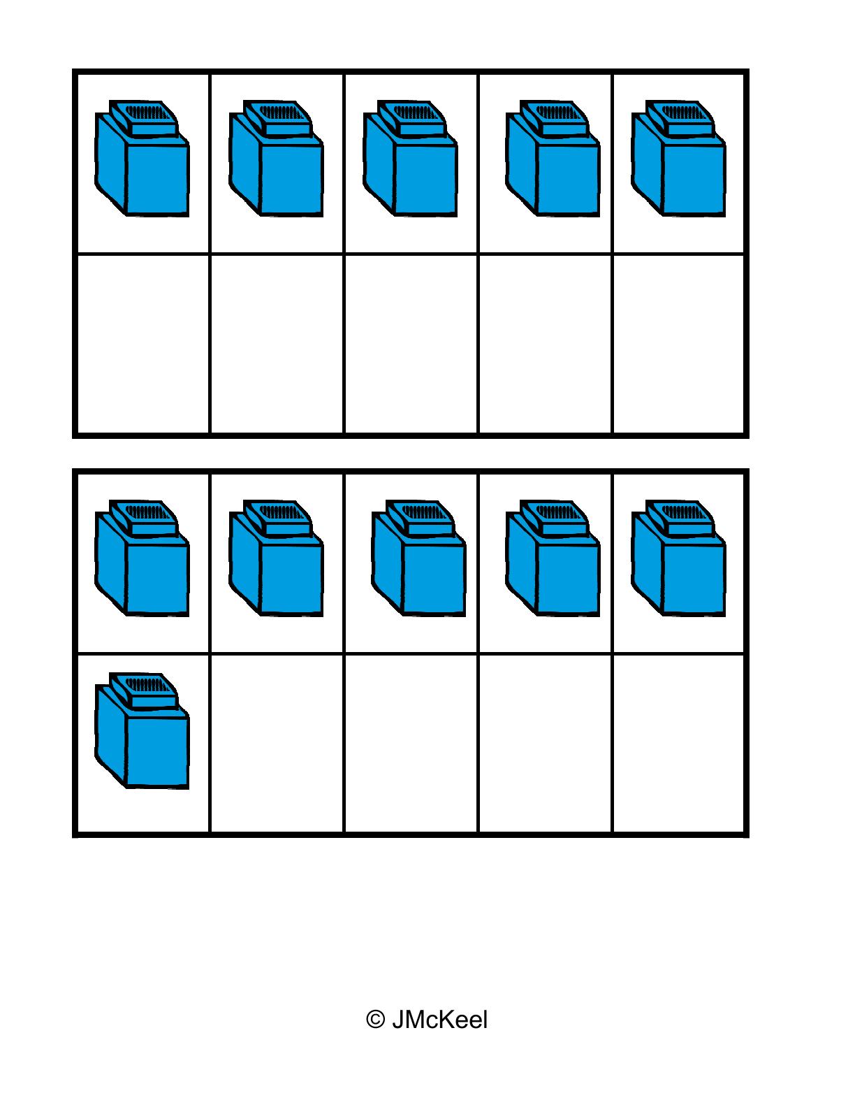 Unifix Cubes Clipart