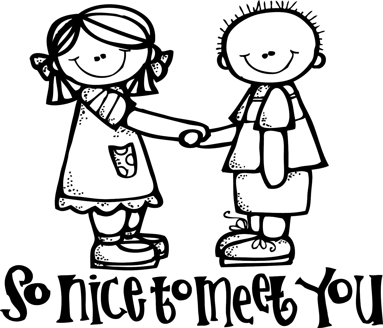 People Meet Together Clipart Black And White