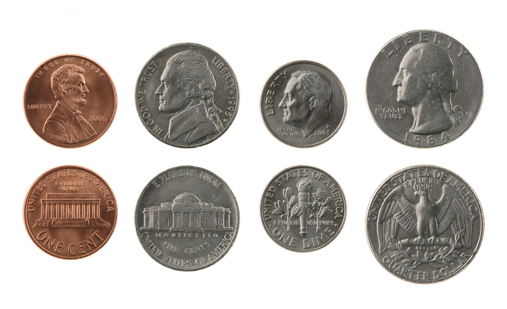 Printable Penny Nickel Dime Quarter