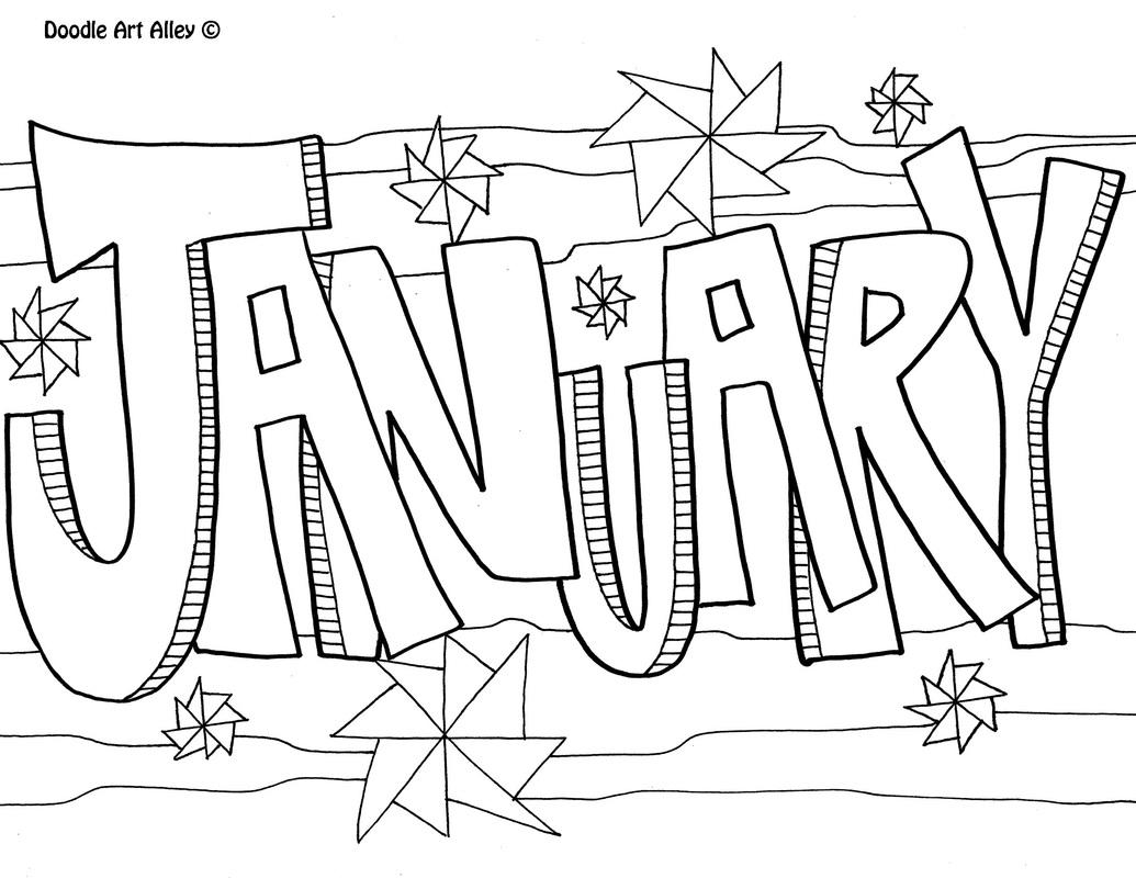 January Clipart Free