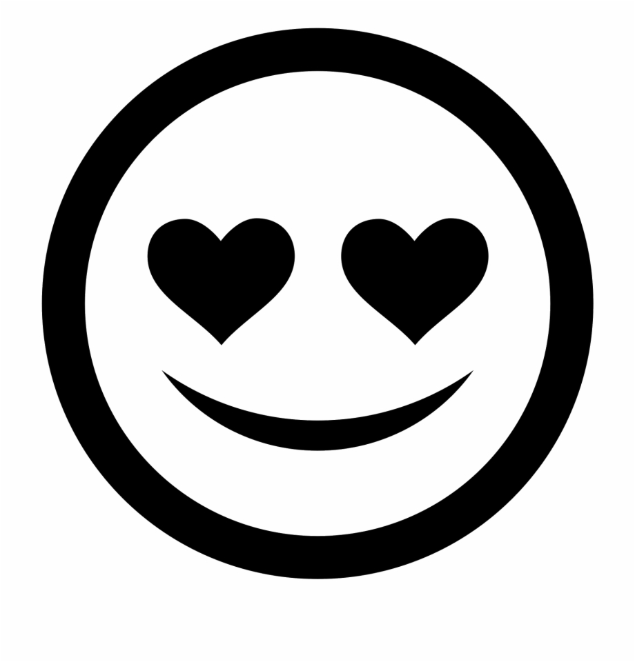 Black And White Smiley Face Png Love Icon Clip Art Library