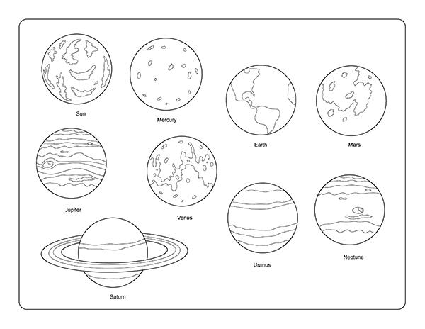 Sun Solar System Drawing Clip Art Library