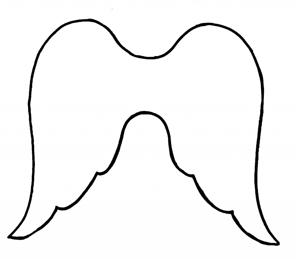 Simple Angel Wings Drawing Angel Wings Clipart Clipart Kid