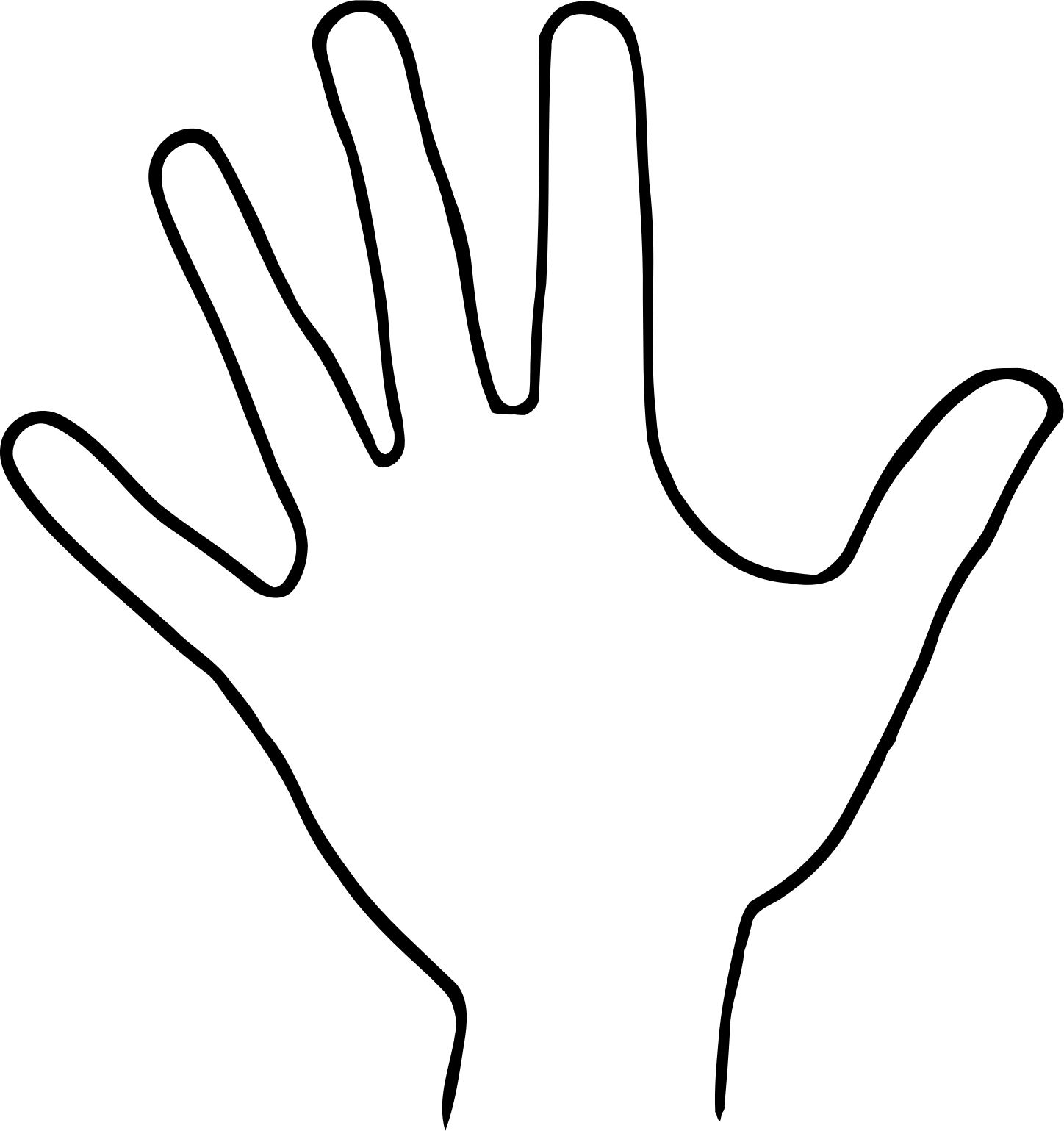 Hand Outline Cliparts Free Download Clip Art Free Clip Art