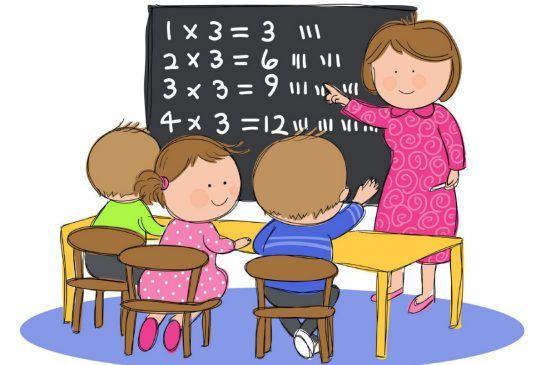 Kids And Teacher Clipart
