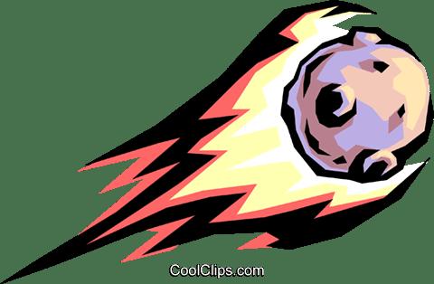 Asteroid Royalty Free Vector Clip Art illustration