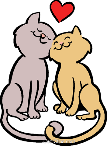 Download cats in love Royalty Free Vector Clip Art illustration ...