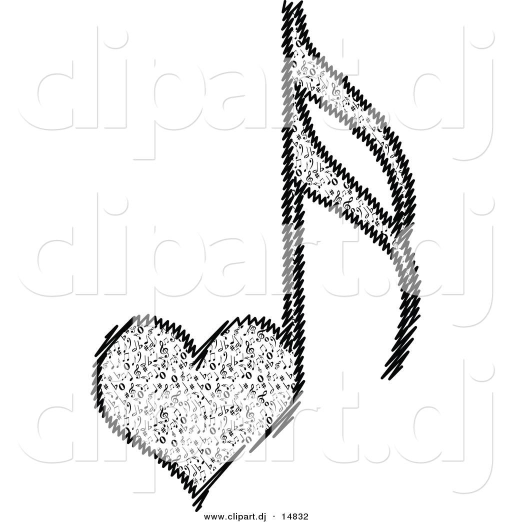 Vector Clipart Of A Love Heart Music Notes By Andrei