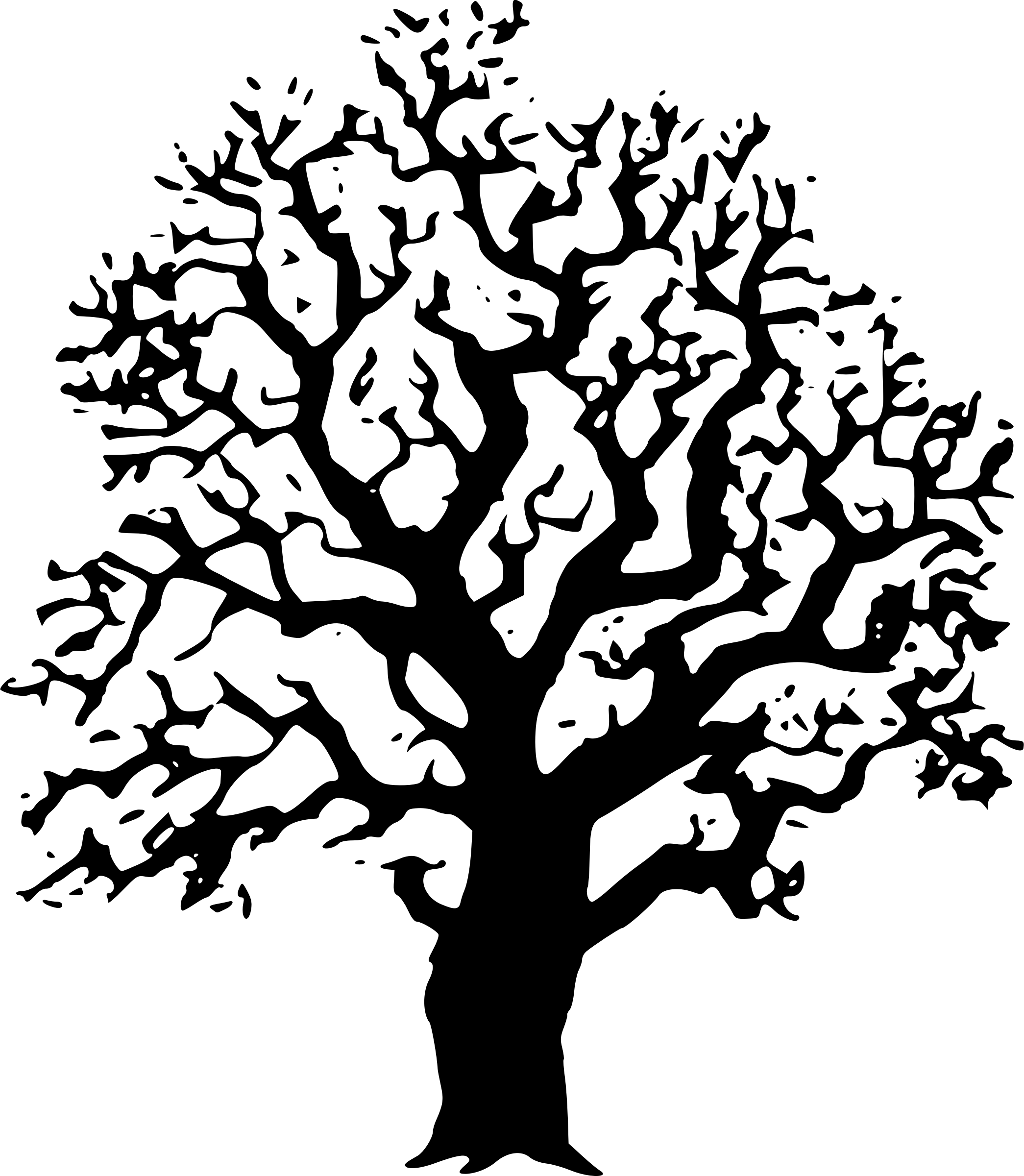 Oaktree Clipart Tree Clipart Black And White