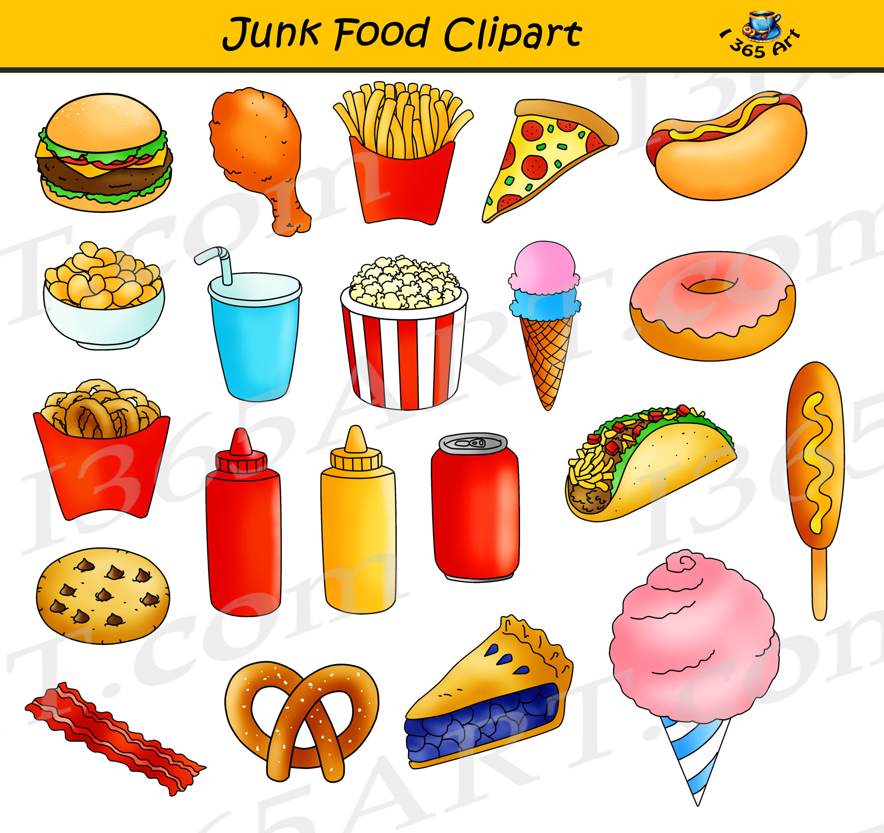 Junk Food Clipart Fast Food Graphics Commercial Use Clipart