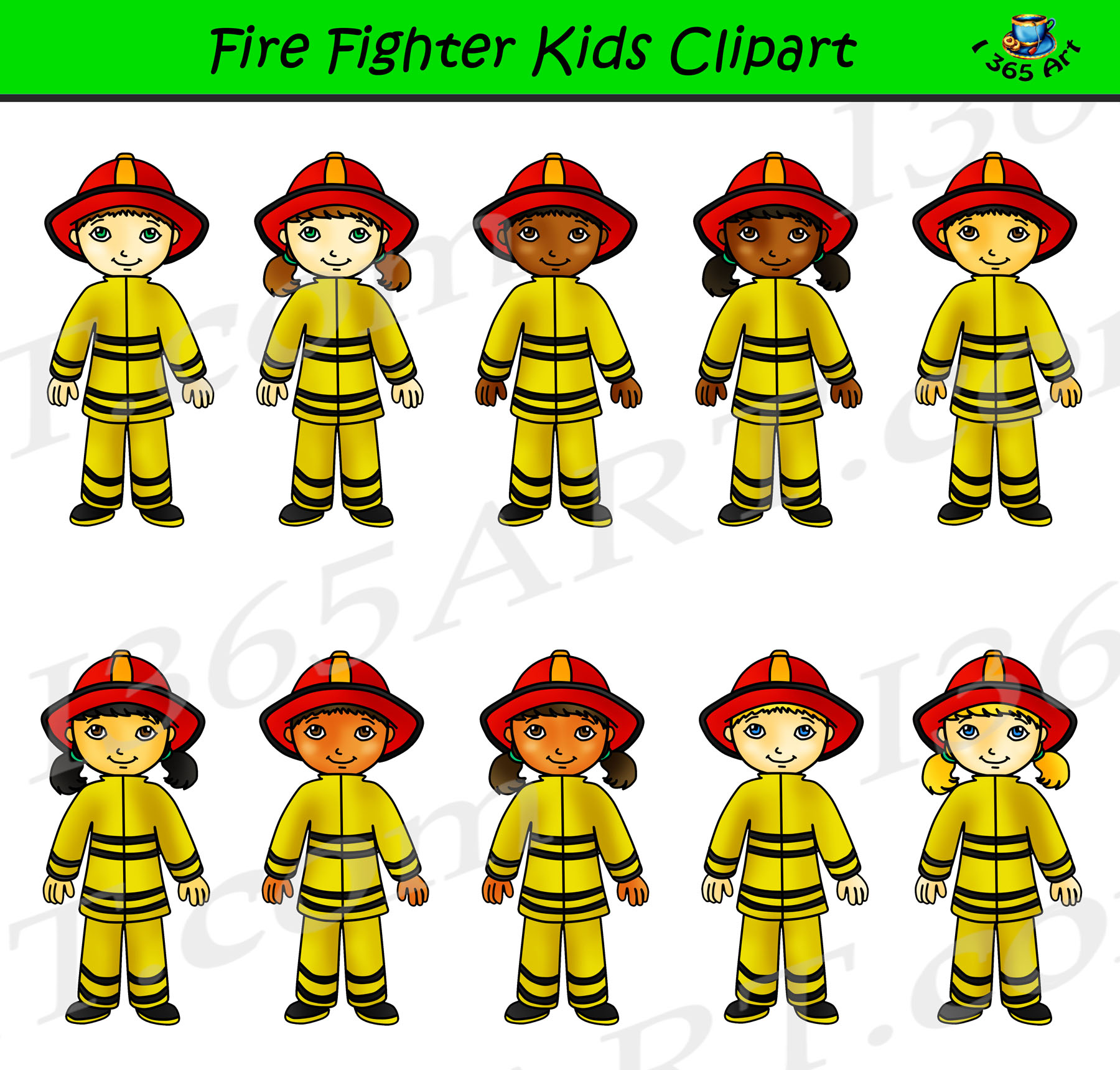 Firefighter Clipart Kids Career Day Graphics Clipart 4 School
