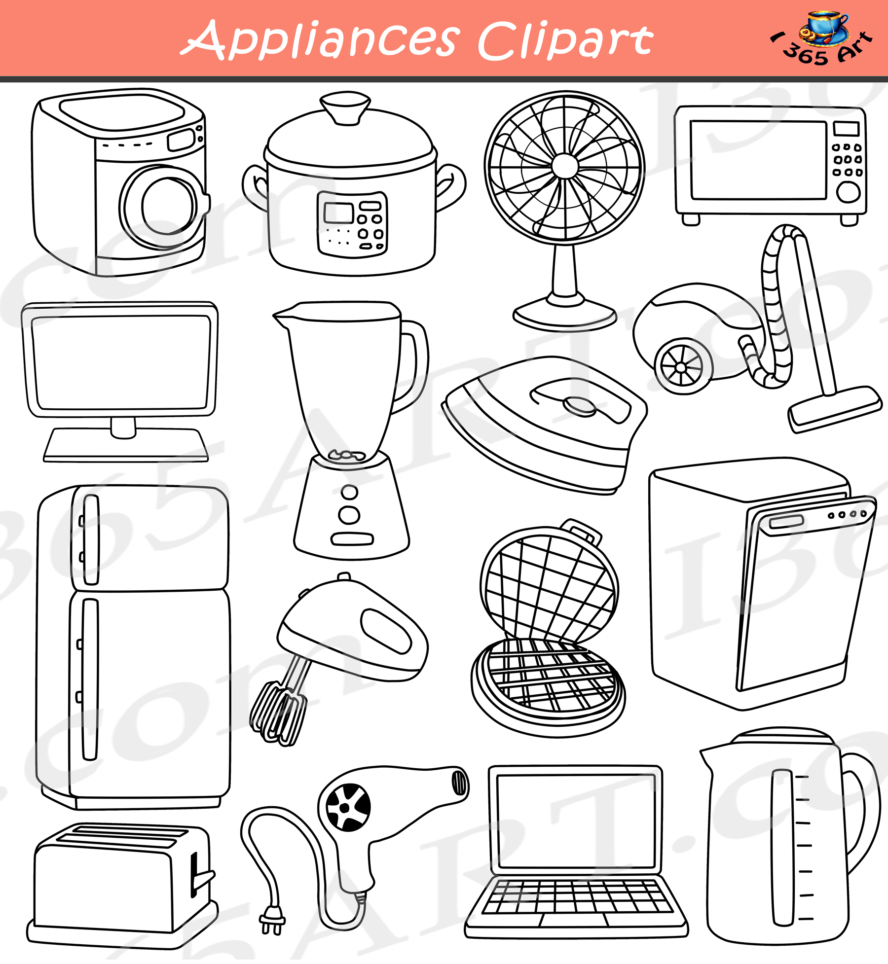Appliances Clipart Amp Electrical Devices School Clipart