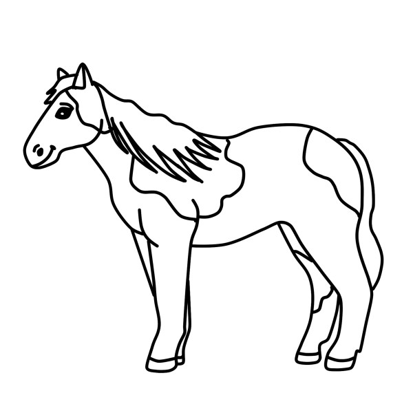 Spotted Horse Clipart Pony Graphic Free Clipart by