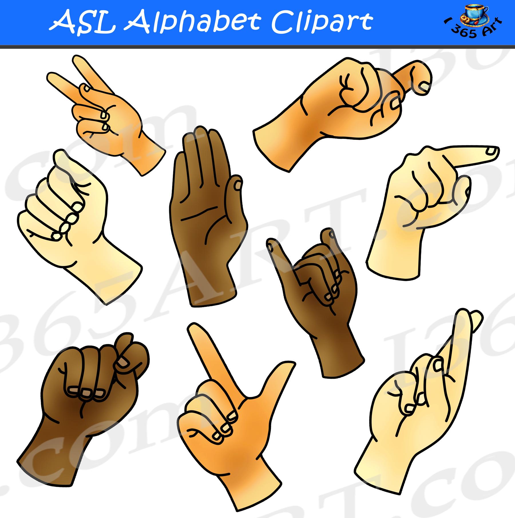 Asl Alphabet Clipart Bundle Pack