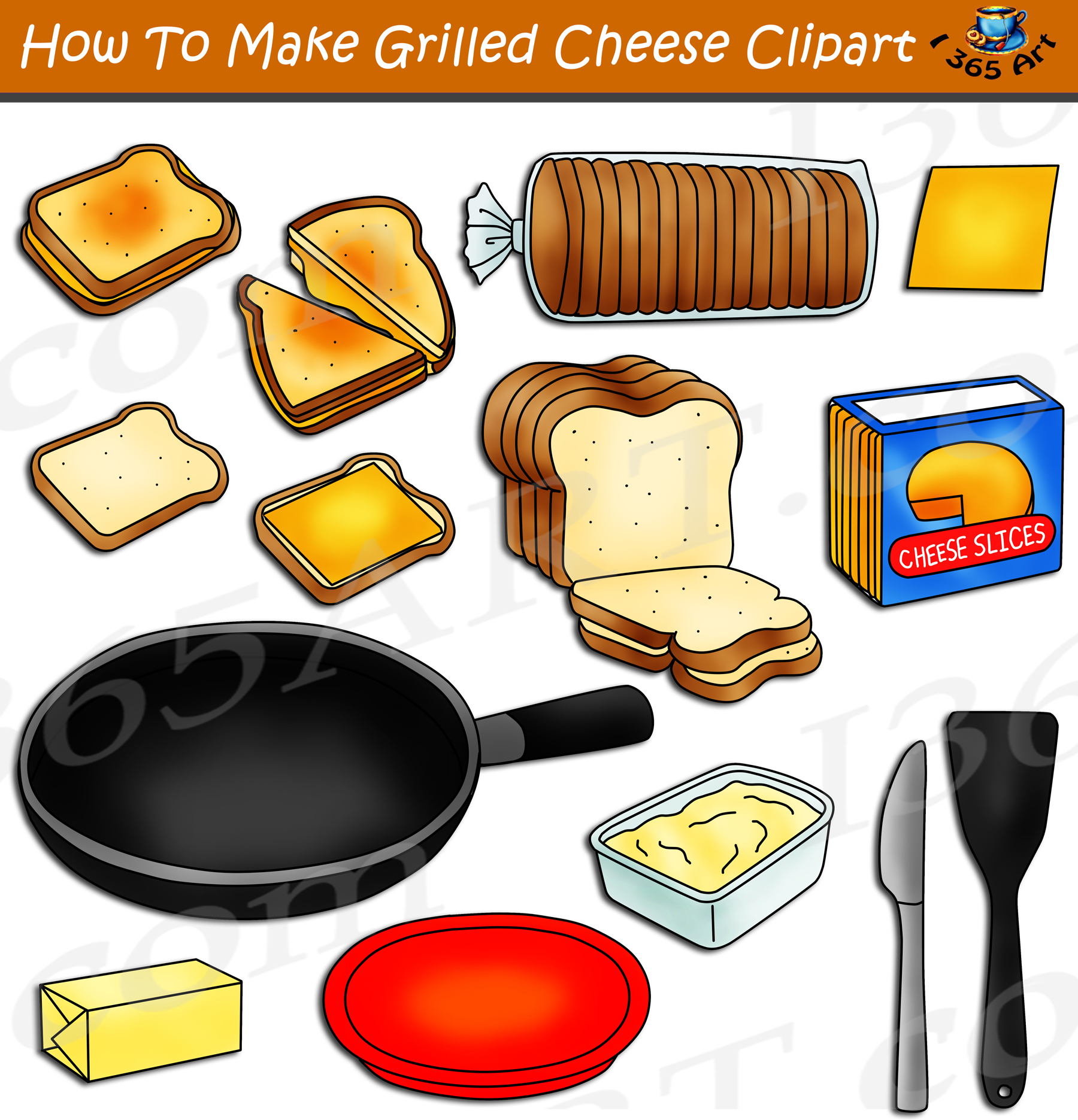 How To Make A Grilled Cheese Sandwich Clipart Download