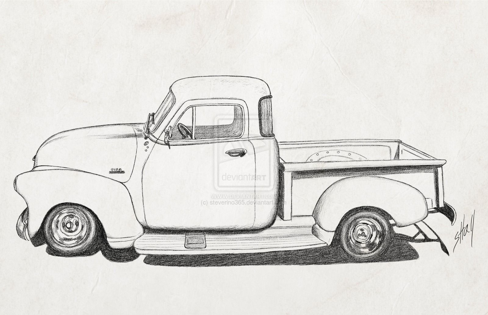 Library Of Chevy Truck Vector Files Clipart Art