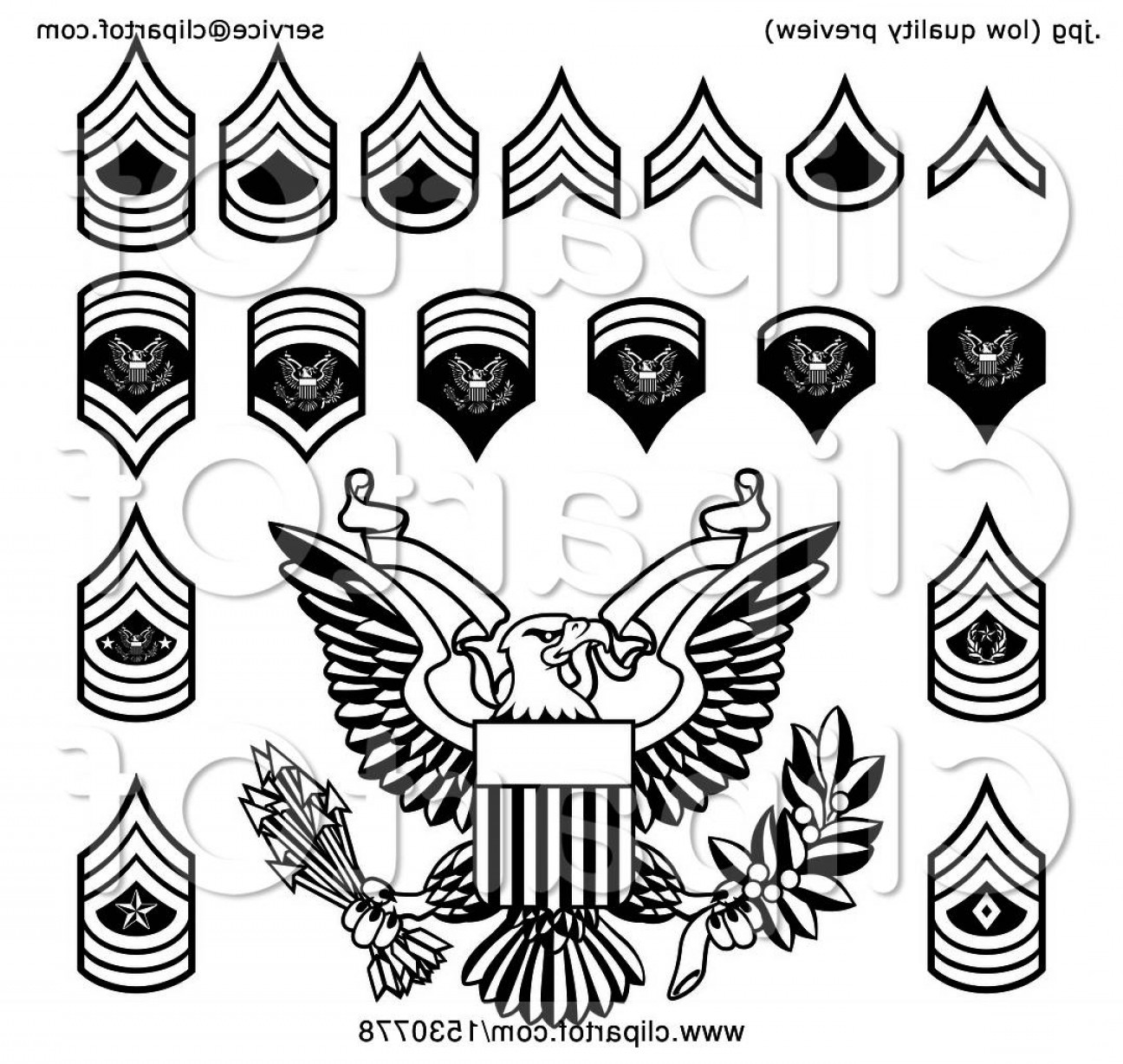 Library Of Army Rank Patches Transparent Download