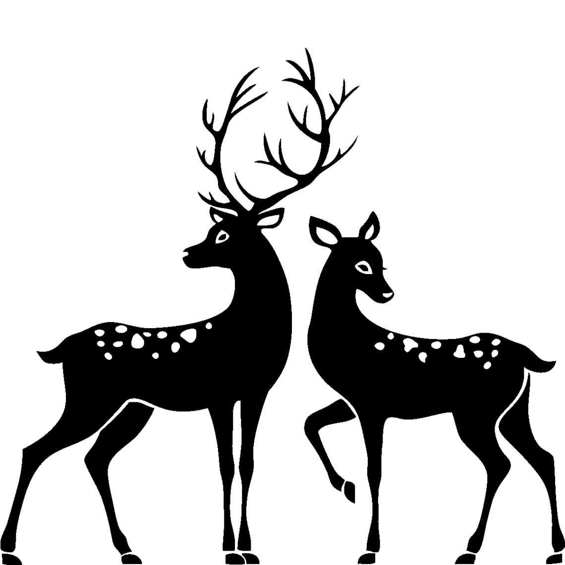 Download Library of buck and doe heart clip library stock png files ...