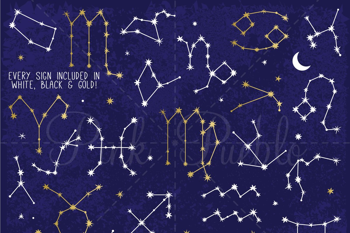 Library Of Zodiac Constellation Digital Clip Art Free