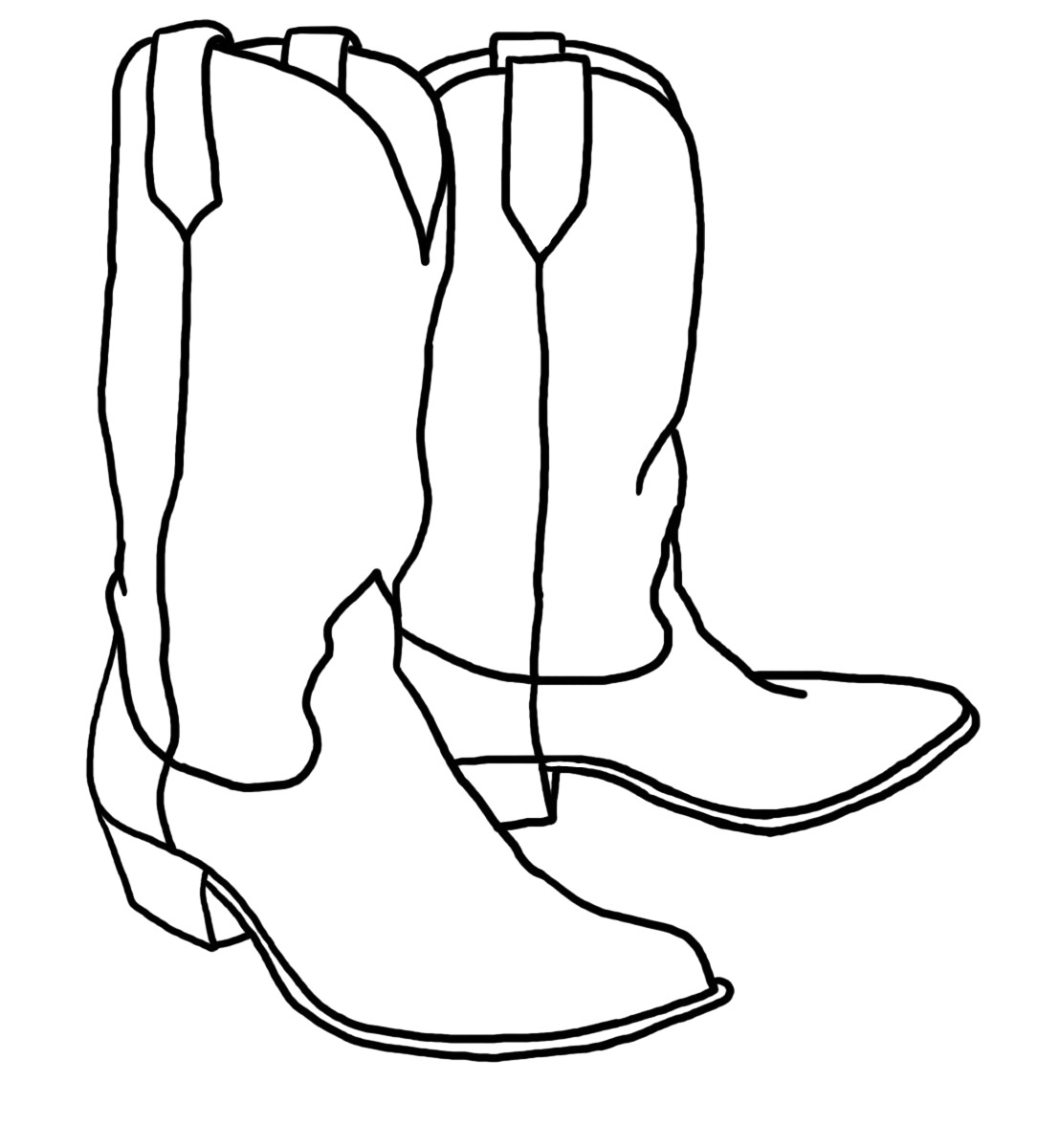 Library Of Cowgirl Boots Black And White Stock Black And