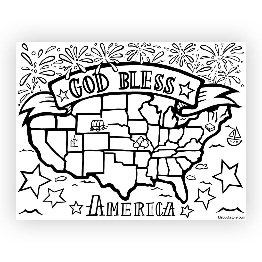 Library Of God Bless America Picture Freeuse Library Black