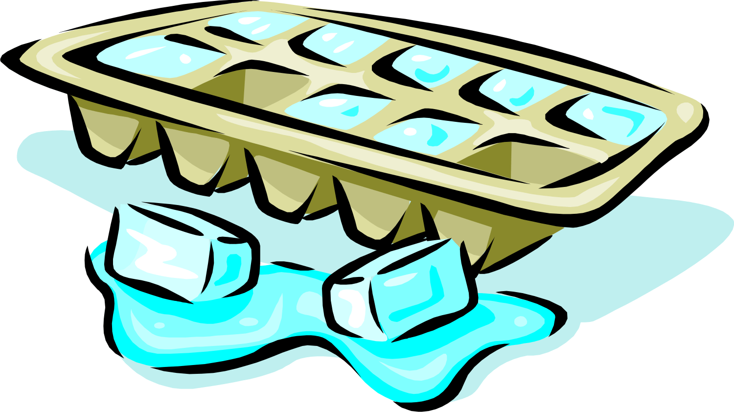 Library Of Ice Cube Tray Image Stock Files Clipart Art