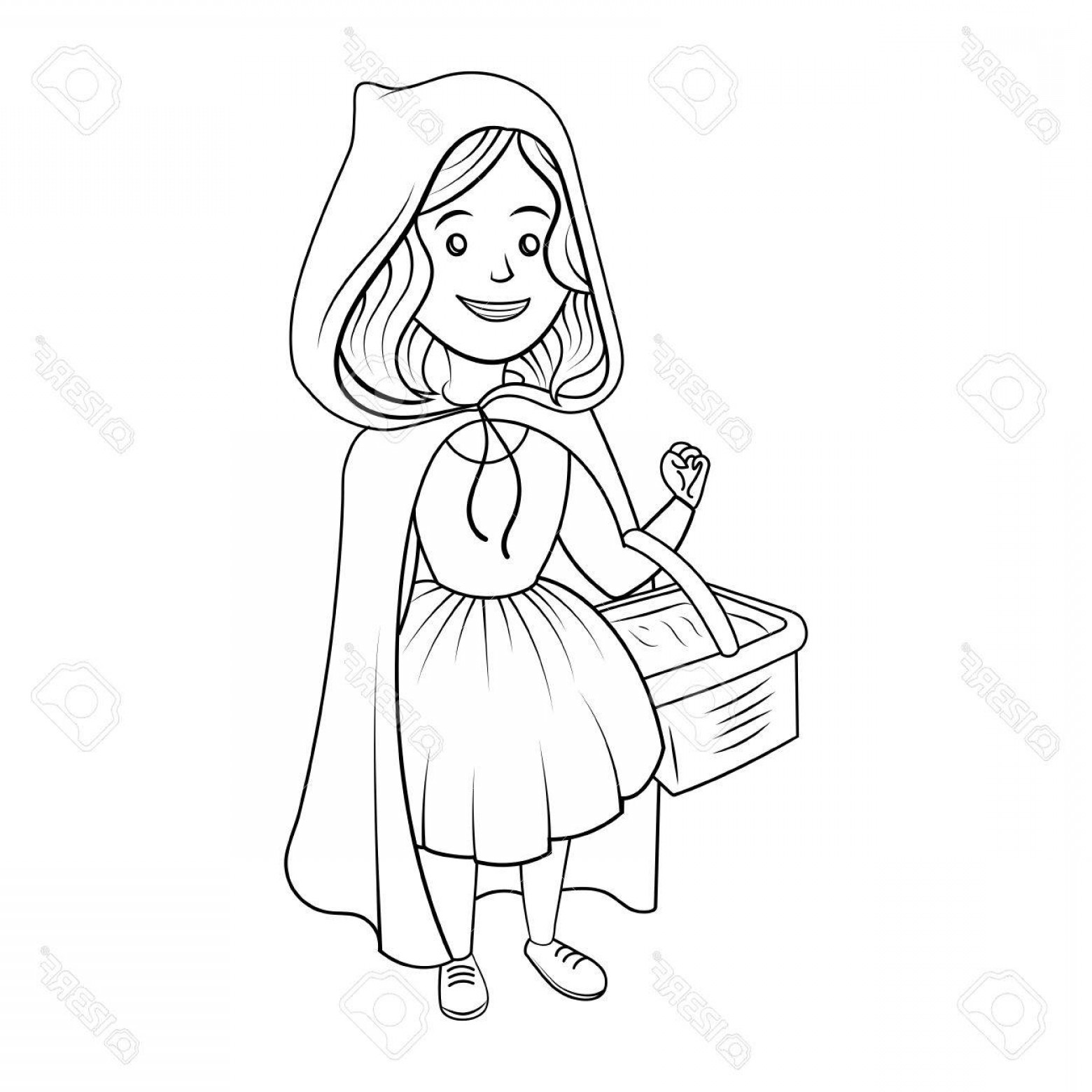 Library Of Red Riding Hood Graphic Download Black And