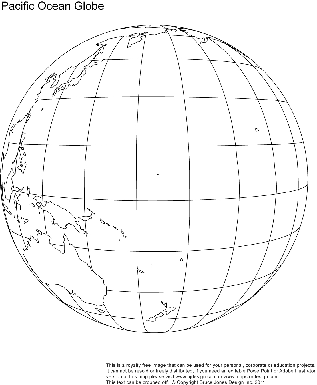 Library Of Map Of Pacific Ocean Graphic Royalty Free