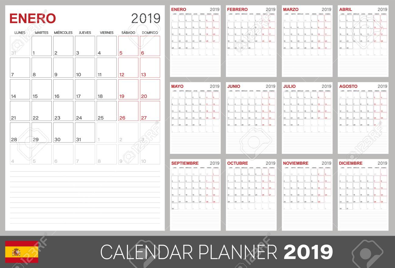 Library Of Spanish Calendar Clip Royalty Free Download