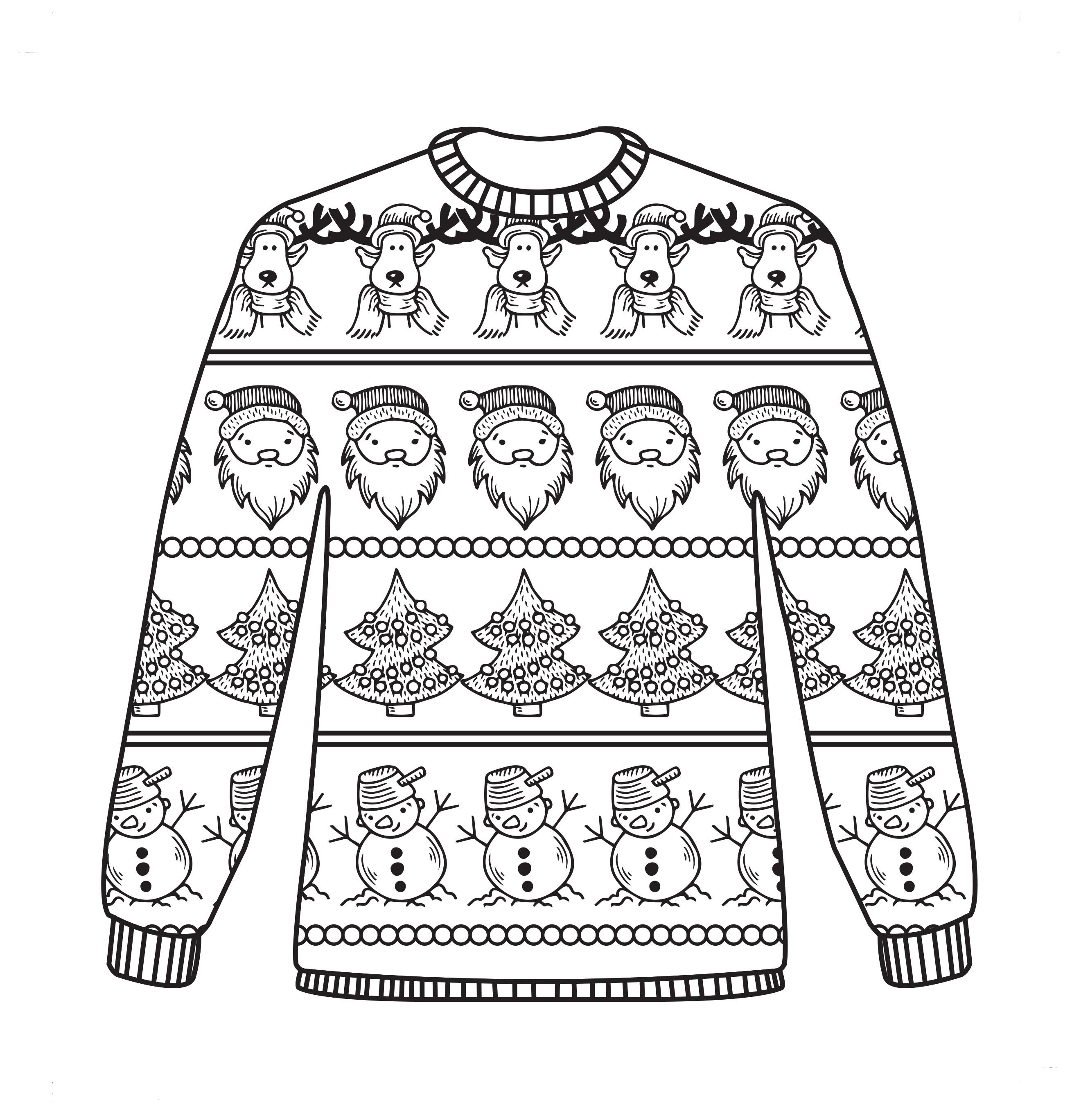 Library Of Ugly Sweater Patterns Freeuse Download Black
