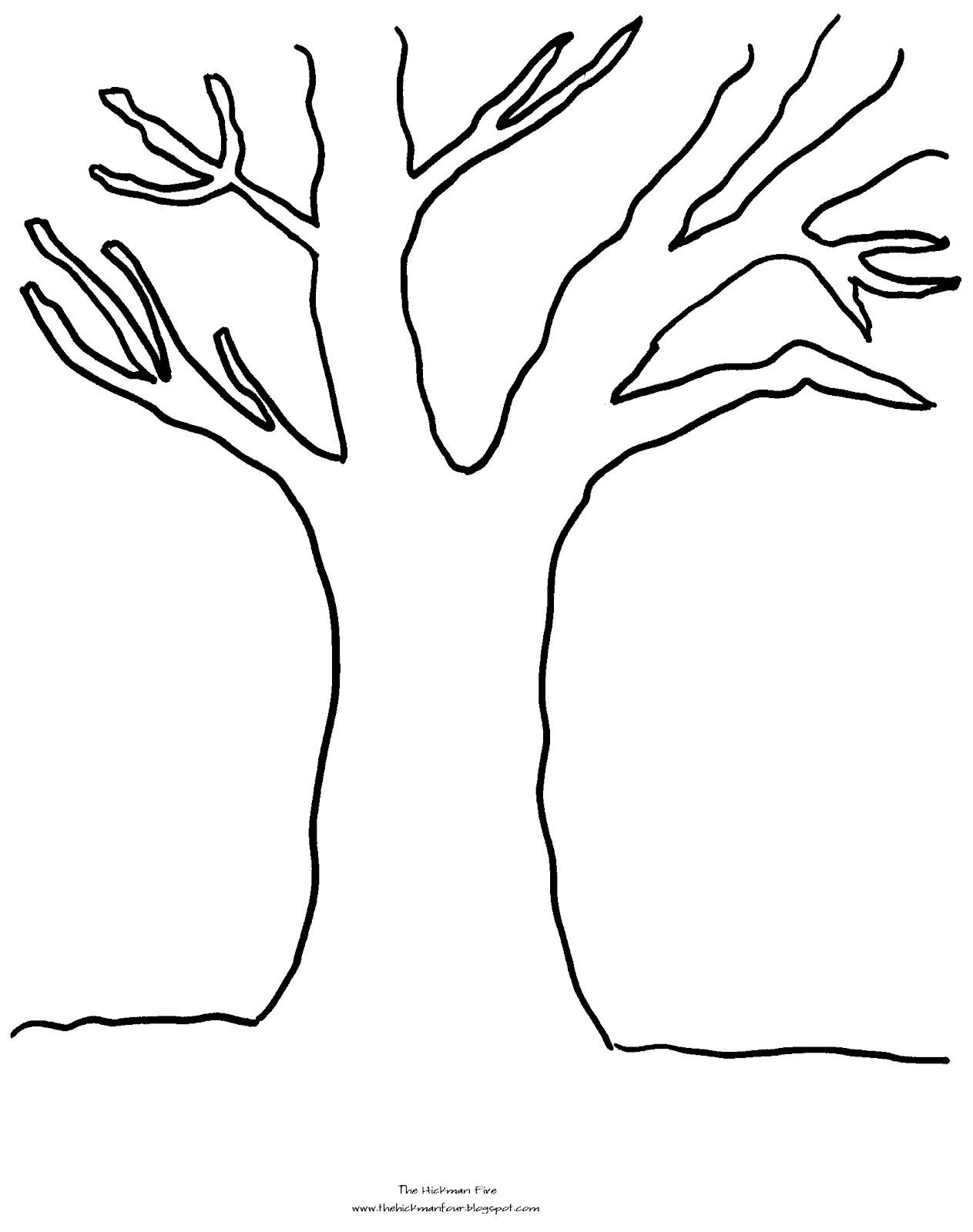 Bare Tree Line Art