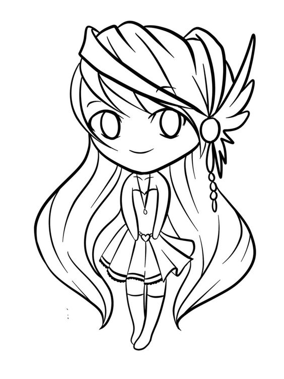 Wolf Chibi Anime Coloring Pages Novocom Top