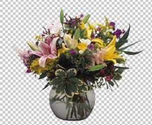 Клипарт лилии в вазе, для Фотошоп в PSD и PNG, без фона ...