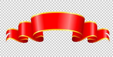 Клипарт красная ленточка, для Фотошоп в PSD и PNG, без ...