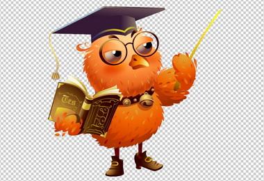Клипарт ученая сова, для Фотошоп в PSD и PNG, без фона ...