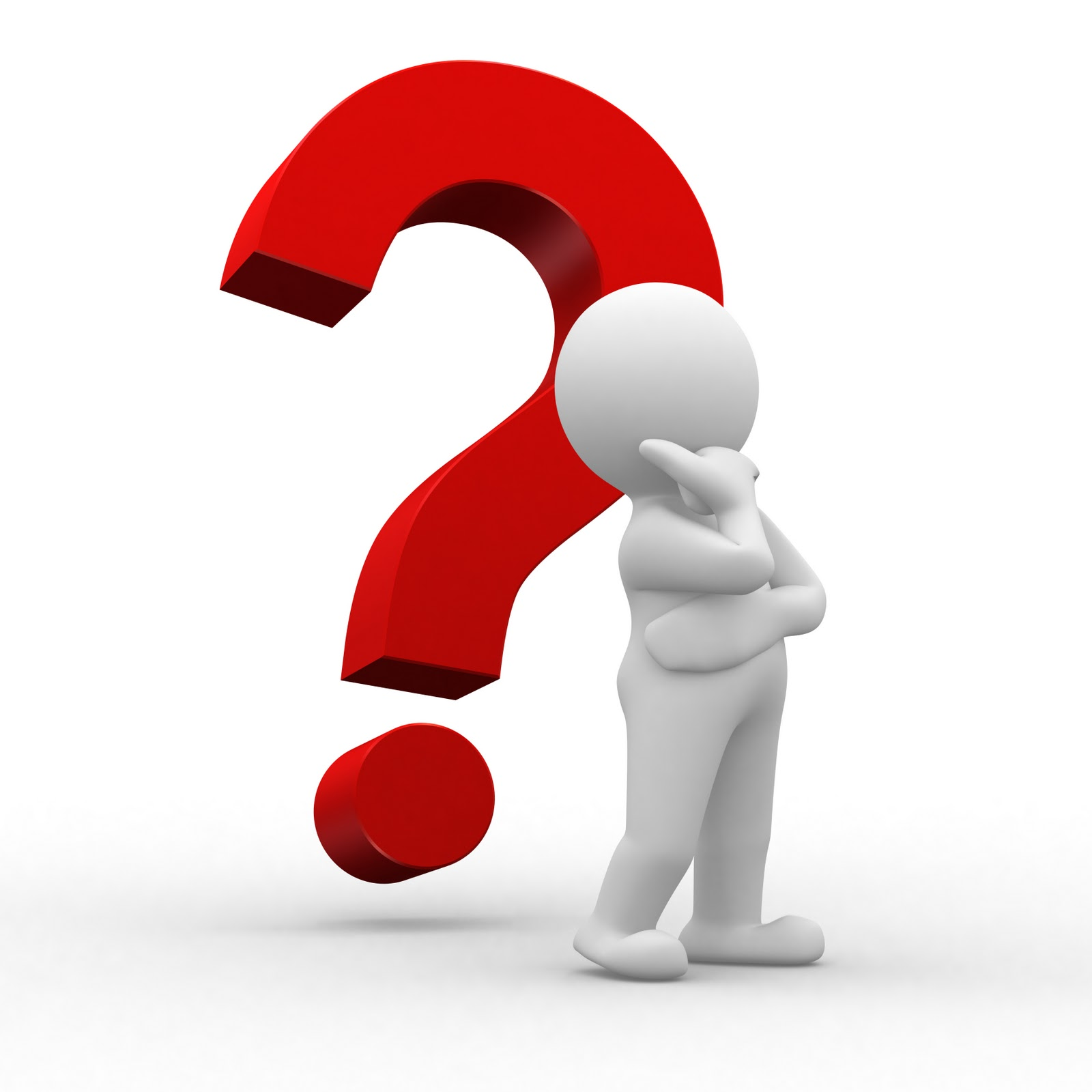 Person thinking with question mark free clipart