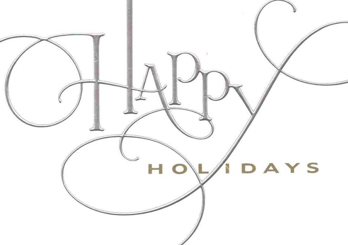 Happy Holidays Holiday Clip Art Free Transparent Free
