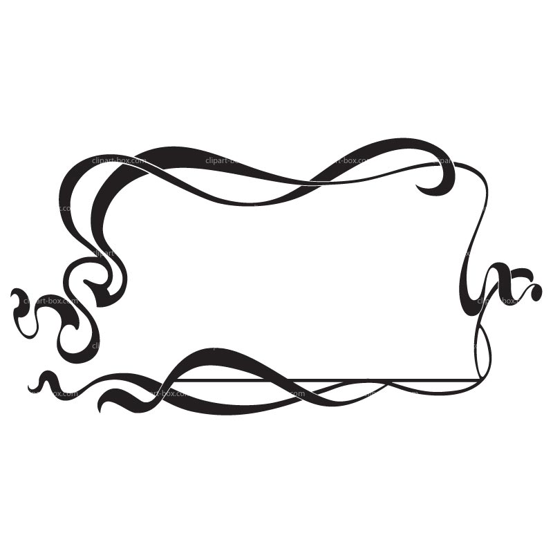 And Frames Borders Hat Clip Art Black And White